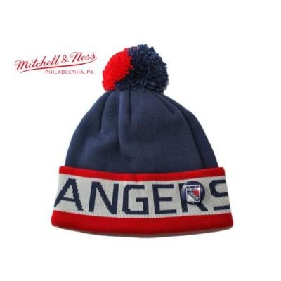ミッチェル&ネス ニット帽 帽子 MITCHELL&NESS メンズ レディース NHL ニューヨーク レンジャース nv ptn