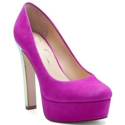 ジェシカシンプソン レディース パンプス シューズ Nellah Suede Platform Pumps Pink