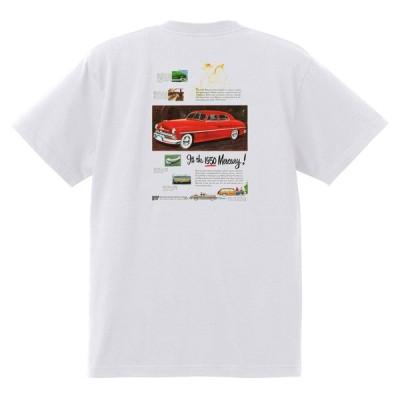 アドバタイジング Tシャツ 白 911 黒地へ変更可 マーキュリー 1949 1951 1950's オールディーズ チョップトップ スレッド