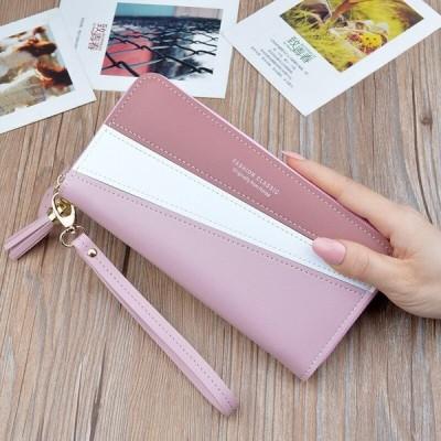 ロング財布ウォメカードホルダージッパー携帯電話バッグ Pu レザーの女性財布
