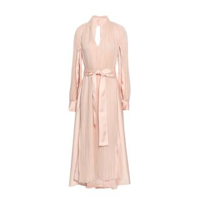 アディアム ADEAM ロングワンピース&ドレス ピンク S キュプラ 60% / ポリエステル 40% ロングワンピース&ドレス