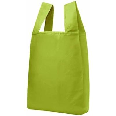 エコバッグ 折りたたみ コンパクト 収納 コンビニバッグ レジ袋タイプ (単色グリーン) 送料無料