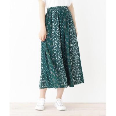 3can4on(Ladies)(サンカンシオン(レディース)) パッチワークロングスカート