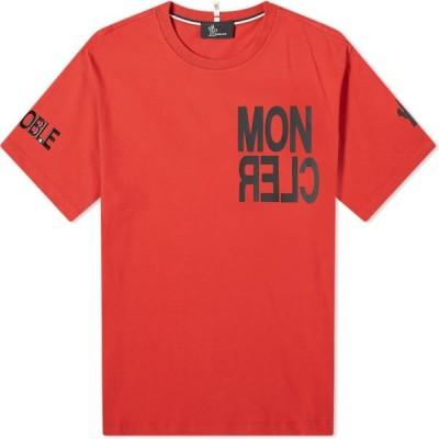 モンクレール Moncler Grenoble メンズ Tシャツ ロゴTシャツ トップス bold logo tee Red