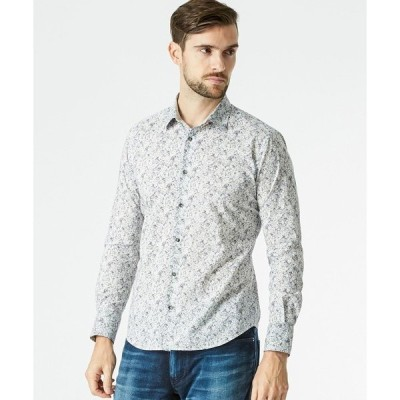 シャツ ブラウス フラワープリントシャツ