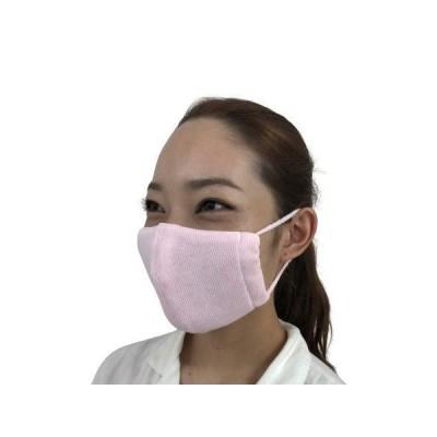 日本製 ニットマスク 2枚入り Mサイズ 肌面天然シルク100% 内側にやわらか天然繊維を使用 肌にやさしい 飛沫防止 快適な着用感 保湿 吸湿性 透