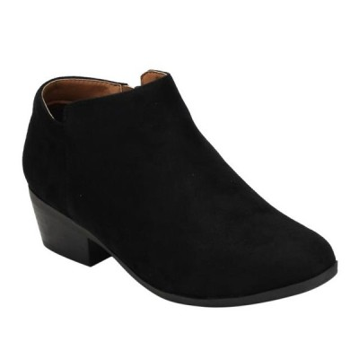 レディース 靴 ヒール パンプス BELLA MARIE AE47 Women's Side Zip Stacked Block Heel Ankle Booties