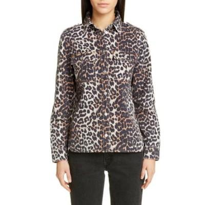 ガニー レディース シャツ トップス Leopard Print Denim Skirt LEOPARD 943