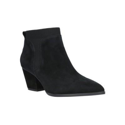 ベラヴィータ ブーツ&レインブーツ シューズ レディース Lottie Block Heel Chelsea Boots Black Suede Leather