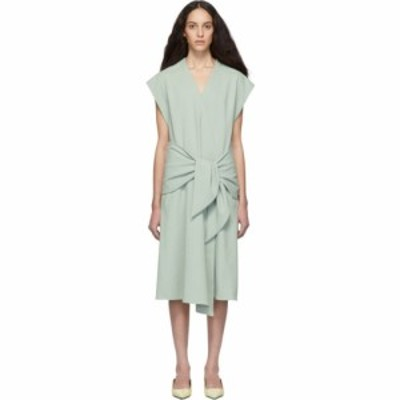ティビ Tibi レディース ワンピース ラップドレス ミドル丈 ワンピース・ドレス Green Chalky Drape Midi Wrap Dress