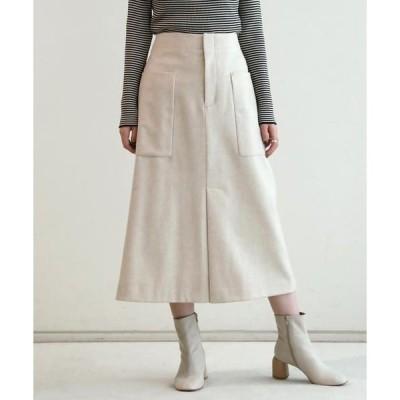 TOMORROWLAND / トゥモローランド ウールフランネル トラペーズスカート