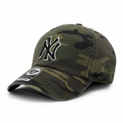 新品 47 Brand b-cargw17gws-cm ニューヨークヤンキース CLEAN UP CAP キャップ CAMO カモ ヘッドウェア