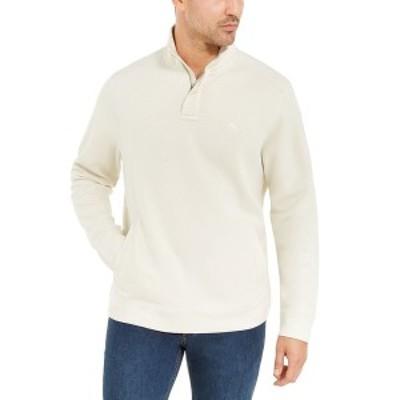 トッミーバハマ メンズ パーカー・スウェットシャツ アウター Men's Playa Pina Port Quarter-Zip Sweatshirt Sand Dollar