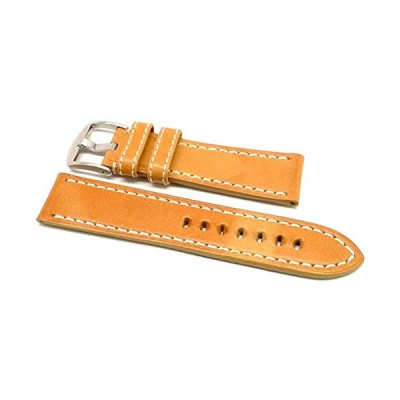 DaLuca OEM Style Leather Watch Strap - Natural : 20mm 並行輸入品