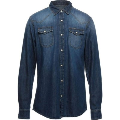 ユニフォーム UNIFORM メンズ シャツ デニム トップス Denim Shirt Blue