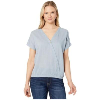 テンツリー tentree レディース Tシャツ トップス Isa Woven Shirt OC Stripe/Riviera Blue/Elm White