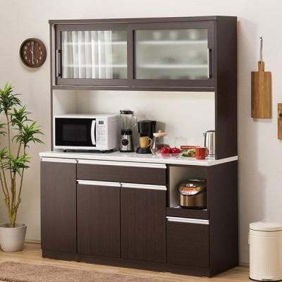 食器棚(レジューム 150TG-S DBR/150TL-R DBR) ニトリ 『配送員設置』 『5年保証』