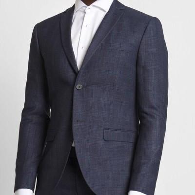 メンズ ファッション CHECK SUIT - Suit - dark blue