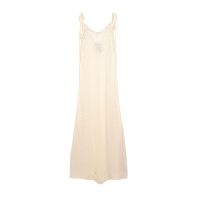 ALANUI ロングワンピース&ドレス アイボリー M 毛(アルパカ) 40% / カシミヤ 30% / シルク 30% ロングワンピース&ドレス