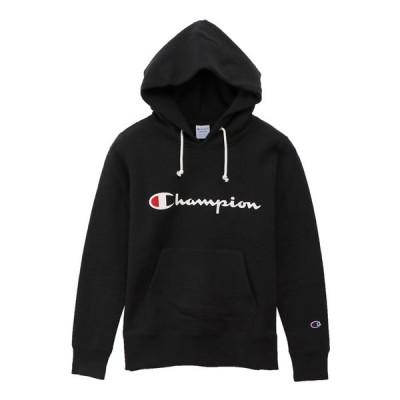 チャンピオン レディース ウィメンズ プルオーバースウェットパーカー  ブラック CWQ103 090 M L 裏起毛 暖か 正規品 在庫品