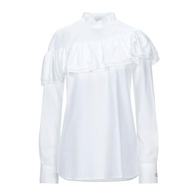 BOHELLE ブラウス ホワイト 40 コットン 100% / ポリウレタン ブラウス