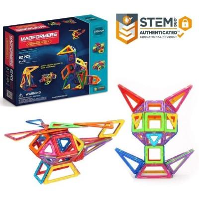 マグフォーマー Magformers デザイナーセット 磁石ブロック組み立て玩具 (62ピース) 63081 教育玩具