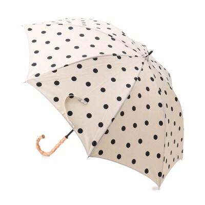 SHOO・LA・RUE / because 晴雨兼用バンブーハンドルドット傘(長傘) WOMEN ファッション雑貨 > 長傘