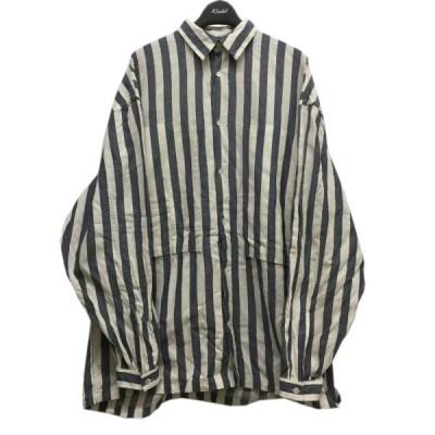 E.TAUTZ ストライプロングシャツ ホワイト×サックス サイズ:XS (中目黒店) 210218
