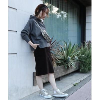 coen / USAコットンコーデュロイタイトミディアムスカート WOMEN スカート > スカート
