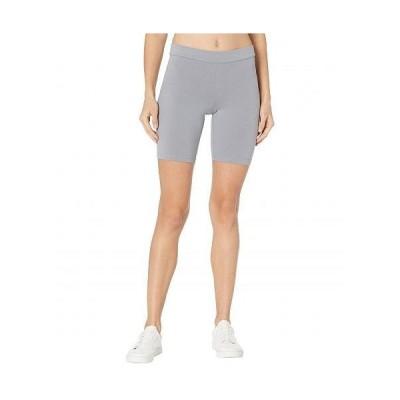HUE ヒュー レディース 女性用 ファッション ショートパンツ 短パン High-Waist Blackout Cotton Bike Shorts - Granite