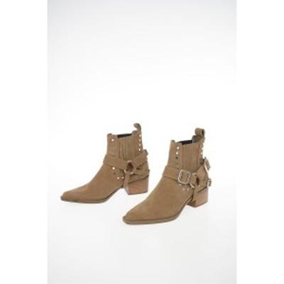 DIESEL/ディーゼル Brown レディース BLACK GOLD 6cm Suede Leather DEIMOS Ankle Boots dk
