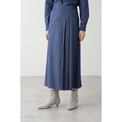 【ヒューマンウーマン/HUMAN WOMAN】 ≪Japan Couture≫反応染めデニムスカート