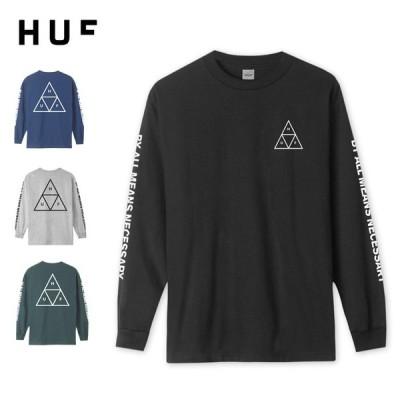 HUF ロンティー ESSENTIALS TT L/S TEE トリプルトライアングル メンズ トップス ロンT  長袖Tシャツ TS00506 メール便対応可/HUF72