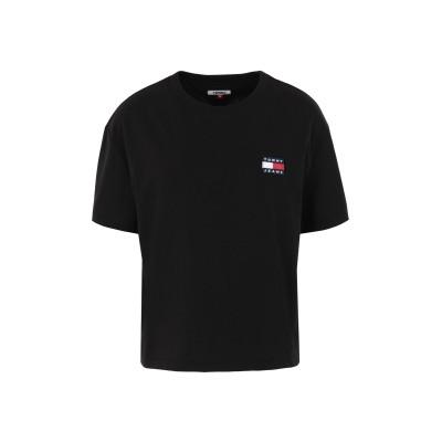 TOMMY JEANS T シャツ ブラック XS 再生コットン 50% / ポリエステル 50% T シャツ