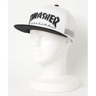 THRASHER by RIFFLEPAGE / MAG LOGO MESH CAP/スラッシャー ロゴ キャップ 帽子 MEN 帽子 > キャップ