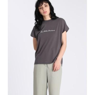 【スーペリアクローゼット/SUPERIOR CLOSET】  《Maison de Beige》フレンチスリーブロゴTシャツ《マシュふわ(R)》
