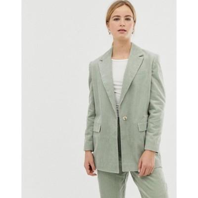 エイソス レディース ジャケット・ブルゾン アウター ASOS DESIGN cord tailored suit blazer