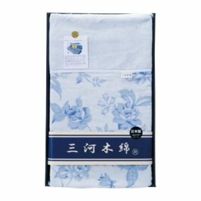 三河木綿 衿付五重ガーゼケット M5K3010 (仏事返礼向き)