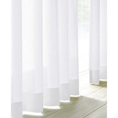 ファミリー・ライフ 遮熱ミラーレースカーテン2枚組ホワイト100×108cm(55682) メーカー直送