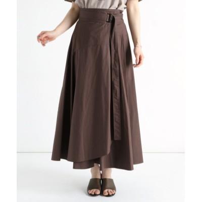【LASUD】 [RADIATE] フレアラップスカート レディース ダーク ブラウン FREE LASUD