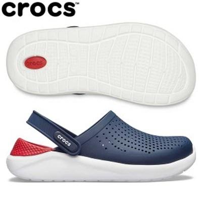 【送料無料】 クロックス ライトライド クロッグ 204592 サンダル ネイビー×ペッパー crocs