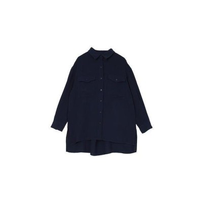 ユアーズ ur's Wポケットシャツ (ネイビー)