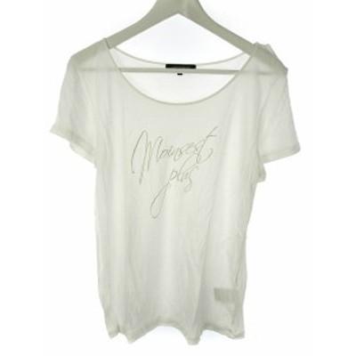 【中古】ロートレアモン LAUTREAMONT 半袖 Tシャツ カットソー プリント 38 オフホワイト 白 トップス レディース