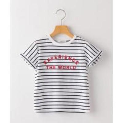 シップスSHIPS KIDS:ボーダー 刺繍 TEE(100~130cm)【お取り寄せ商品】