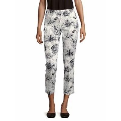 ラファイエット148ニューヨーク レディース パンツ Printed Cotton-Blend Cropped Pants