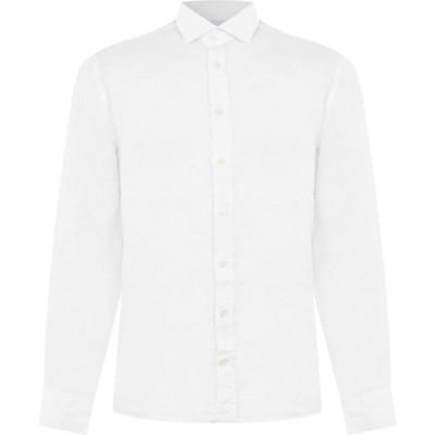 ハケット Hackett メンズ シャツ トップス Linen Shirt Optic White