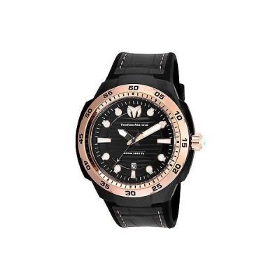テクノマリーン 腕時計 TechnoMarine TM-515008 メンズ 腕時計 ステンレス スチール ブラック ダイヤル