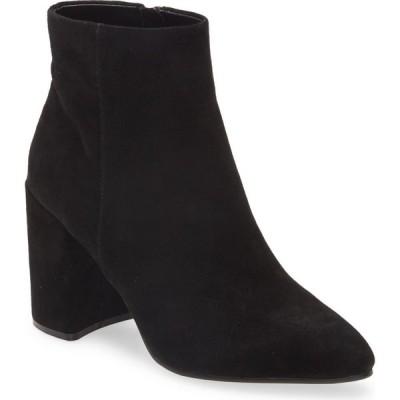 スティーブ マデン STEVE MADDEN レディース ブーツ シューズ・靴 Therese Block Heel Bootie Black Suede