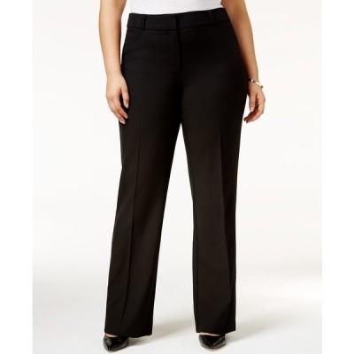 アルファニ カジュアルパンツ ボトムス レディース Plus & Petite Plus Size Curvy Bootcut Tummy-Control Pants,  Created for Macy's Deep Black