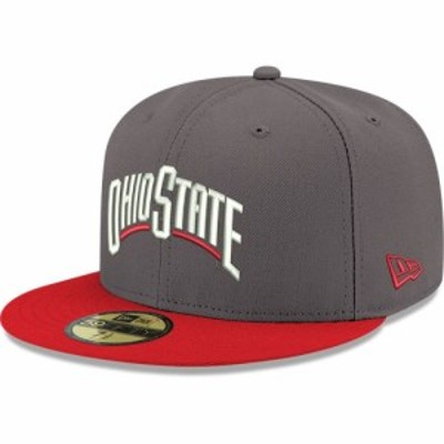 ニューエラ New Era メンズ キャップ 帽子 Ohio State Buckeyes Gray 59Fifty Fitted Hat